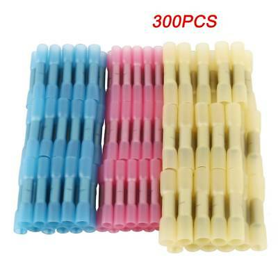 300Pcs Heat Shrink Insulated Butt Crimp Wire Connector Terminals Assortment  USA