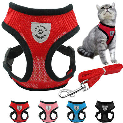 Breathable Cat Walking Harness & Leash Reflective Strap Vest Jacket Adjustable