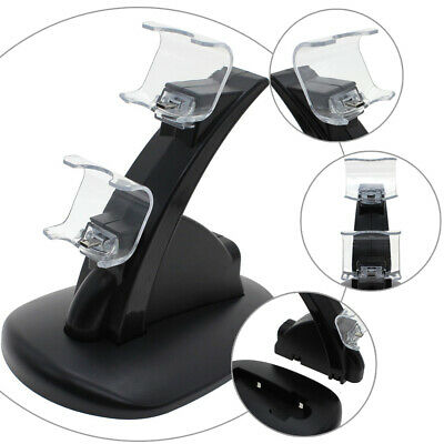 LED Dual Charging Charger Dock Station Stand for PS4 Playstation 4 Controller UK