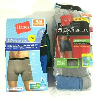 06138976a694 Hanes Tag less Boxer Briefs Mens Assorted Colors & Bands (2 Packs - 9 Total