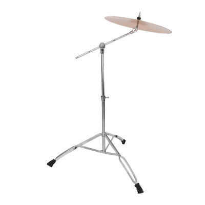 Straight Cymbal Stand Chrome Double Braced Percussion Tripod Silver