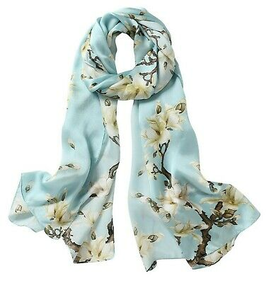 100% Silk Scarf Oblong For Women Lightweight Mulberry Charmeuse Silk Scarves