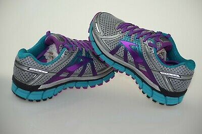 599dfef8f4f WOMENS BROOKS ADRENALINE Gts 17 Running Shoes Size 10.5 Silver ...