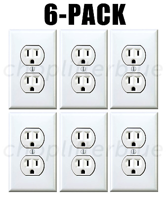 Electrical Outlet Stickers 6-Pack Prank Fake Joke Funny Custom Decal HQ Sticker-