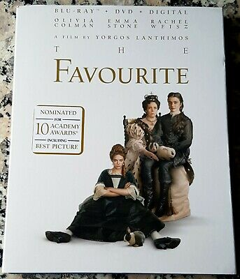 FAVOURITE Slipcover BLU RAY ONLY Olivia Colman Best Actress Emma Stone Weisz
