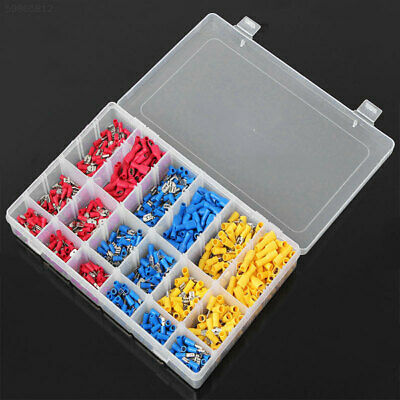0713 900Pcs Assorted Cold-pressed Electrical Cable Crimp Terminal Set 10-22AWG