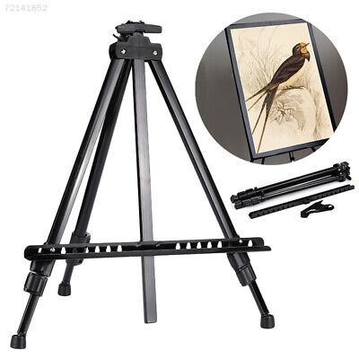 6E0A Black Sketching Easel Tripod Painting Easel Tripod Displaying Bracket