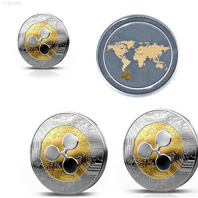 Gold &Silver Ripple coin Commemorative Round Collectors Coin XRP Coin Art Gift