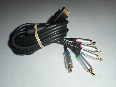Official Genuine OEM Sony PlayStation Gold Component HD Video Cable - PS2 PS3