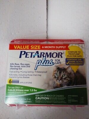 BrandNew Sealed PetArmor Plus for Cats Flea & Tick  Treatment 6 months