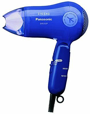 Panasonic Hair Dryer ZIGZAG Turbo Dry 1200 Blue EH 5202 P-A NEW from Japan