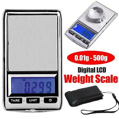 NEW 500g 0.01 DIGITAL POCKET SCALES JEWELLERY ELECTRONIC milligram micro mg AU