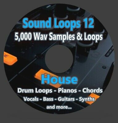 Sound Loops 12 HOUSE Collection 5000 WAV Loops Sample Packs FL STUDIO LOGIC PRO