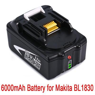 18V 6.0AH Battery For Makita BL1860 BL1850 BL1840 BL1830 with Fuel Guage