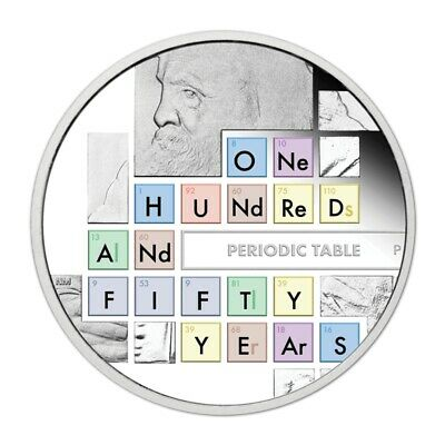 2019 150 Years of the Periodic Table 1oz Silver Proof Coin