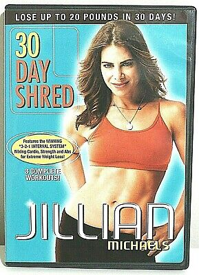 Jillian Michaels: 30 Day Shred (DVD, 2007) 3 Complete Workouts