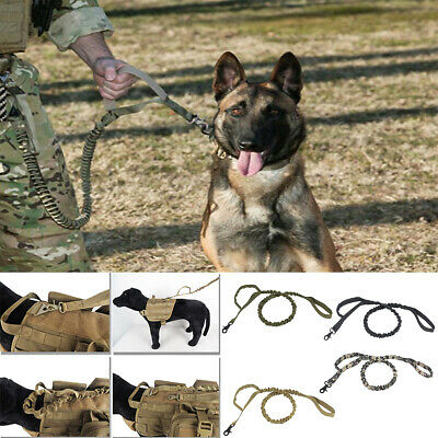 Dog Leash Police Tactical Training Elastic Bungee Military Canine Head Collar