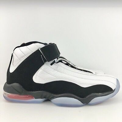 los angeles 7041c 20946 Nike Air Max Penny IV Men s Basketball Shoes 864018-101 Black White Red  Size 9.5