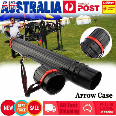 Adjustable Arrow Case Back Quiver Shoulder Tube Telescopic Tube with Strap