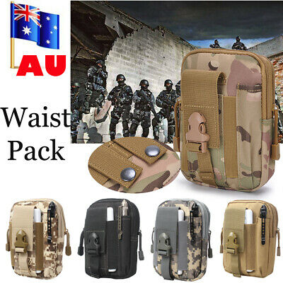 Military Utility Tactical Waist Pack Belt Bag Camping Pouch Tool Phone Wallet AU