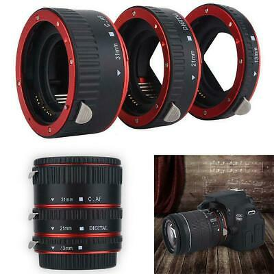 Auto Focus Macro Extension Adapter Tube Close-Up Lens Ring for Canon EOS EF TR