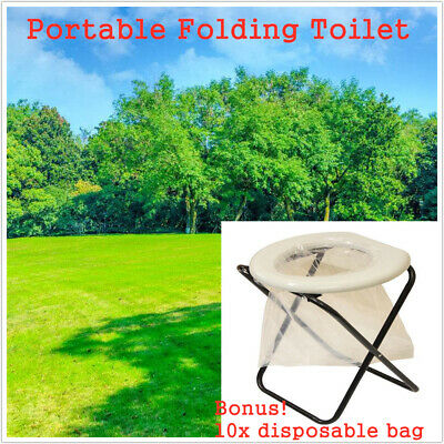 Portable Folding Toilet Outdoor Camp Travel Camping Hunting Caravan Potty Bags