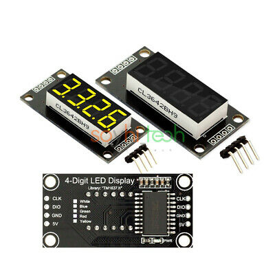 "0.36 ""7-Segment Display 4-Digit LED Clock Digital Tube TM1637 Module for Arduino"