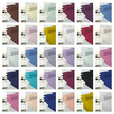 Polycotton Deep Fitted Sheet With Pillowcase Thread Count 180 Easy care Percale