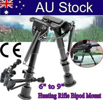 """Adjustable 6""""to 9"""" Height Sniper Hunting Rifle Bipod Sling Swivel Mount SEC2"""