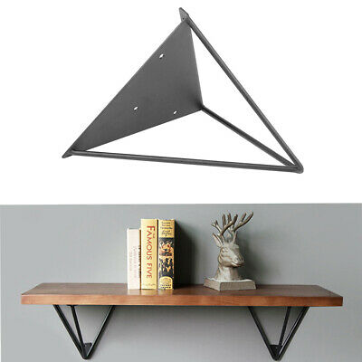 2PCS Durable Hairpin Industrial Wall Shelf Support Bracket Metal Prism Mount GB