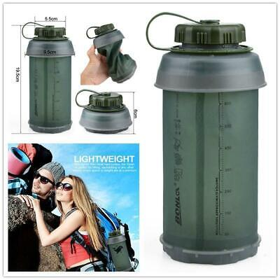 750ml Green Outdoor Hiking Foldable Water Bottle Portable Collapsible Sports Cup