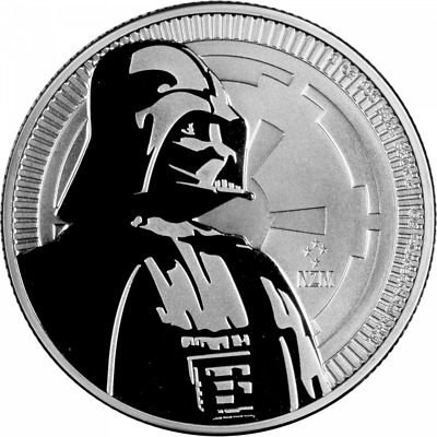NIUE 2017 2 DOLLAR SILVER BULLION  DARTH VADER STAR WAR SERIES 1 oz .999 !!!