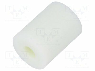 Spacer sleeve; cylindrical; polyamide; L:6.4mm; Øout:4.8mm [10 pcs]