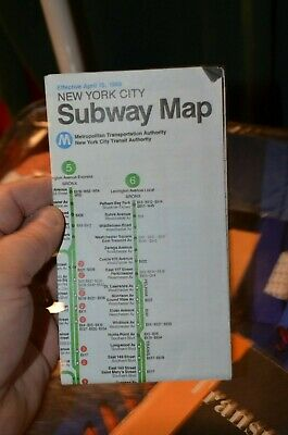 New York City Subway Map April 15 1990.Vintage 1964 New York City World S Fair Subway Map Guide 40 00