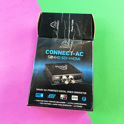 Atomos Connect-AC S2H HD-SDI to HDMI Converter ATOMACS001 with AC Cable #5124