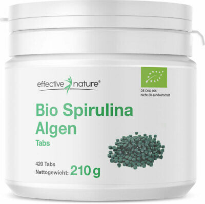 effective nature - Spirulina Algen Tabletten - 420 Stk.