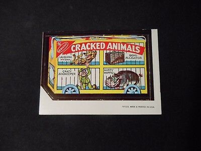 1967 Topps Wacky Packages Die Cut #38 RARE Cracked Animals