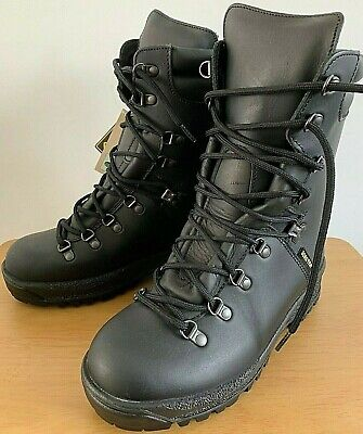 British Army Goretex Cold  Wet Weather Assault Black Leather Boots NEW 6M UK