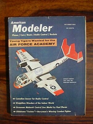 American Modeler Model Aircraft Magazine 1960 October Grumman Mohawk Plato