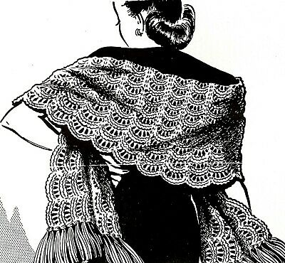 R2749 Vintage Mail Order LACY STOLE Pattern to KNIT (Reproduction)