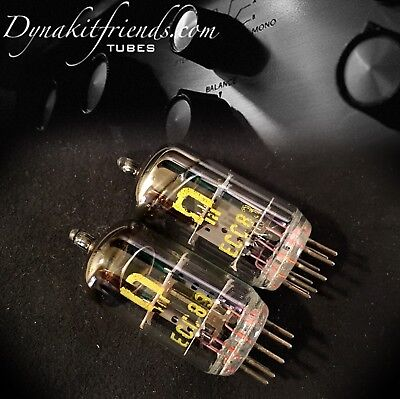 RFT ECC83 12AX7  E83CC Made In Germany Tubes Matched Pair