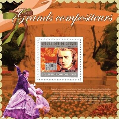 Guinea 2010 Sheet Mnh Great Composers Grands Compositeurs Compositores 1A