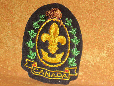 BOY SCOUTS BEAVER Canada Badge Patch Embroidered Sew On