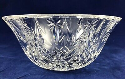 "Waterford Crystal Christmas Tree 7"" Bowl Excellent Vintage Condition Orig Box"