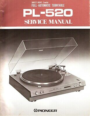 Pioneer PL-520 Original Service Manual. Money Back Guaranty