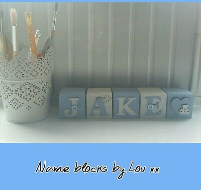 Personalised  baby name blocks (handcrafted)