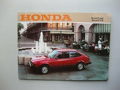 Honda Accord LX prestige prestige brochure Prospekt English text 20 pages 1978