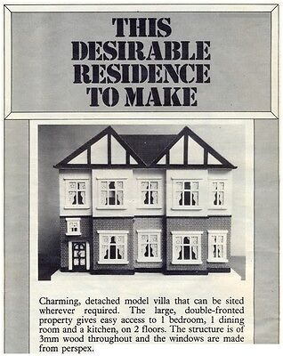 Dolls' House Plans & Instructions (Only) - Not Finished Item