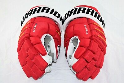 d7b6f12b749 Warrior QX Pro Stock NHL Gloves Calgary Flames Red Yellow Authentic Brand  New