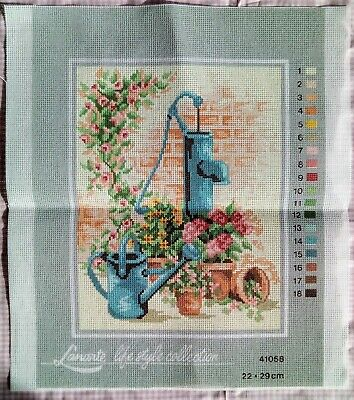 Lanarte Life Style Collection Water Pump Watering Can Garden Flowers Canvas Only